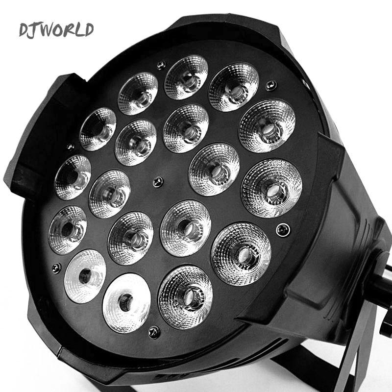 4pcs/lot LED Par 18x12w Light Casting Aluminum RGBW 4in1 Wash Lighting For Stage Perfect TV Studio Rental Luces Wedding
