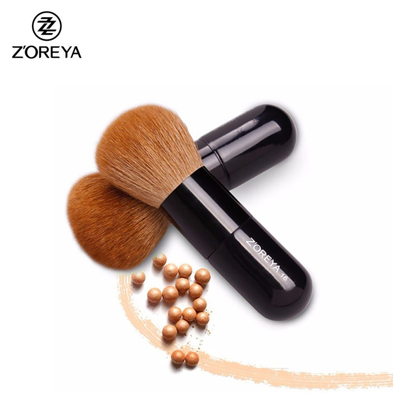 ZOREYA New Arrival Powder Brush Natural Goat Hair Loose Liquid Makeup Brushes Multifunctional Cosmetic Tool For Beauty Maquiagem
