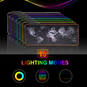 Image 5 - RGB Mouse Pad Gaming Mouse Pad Gamer Large Mouse Mat Big Computer Mousepad Led Backlight XXL Surface Mause Pad Keyboard Desk Mat