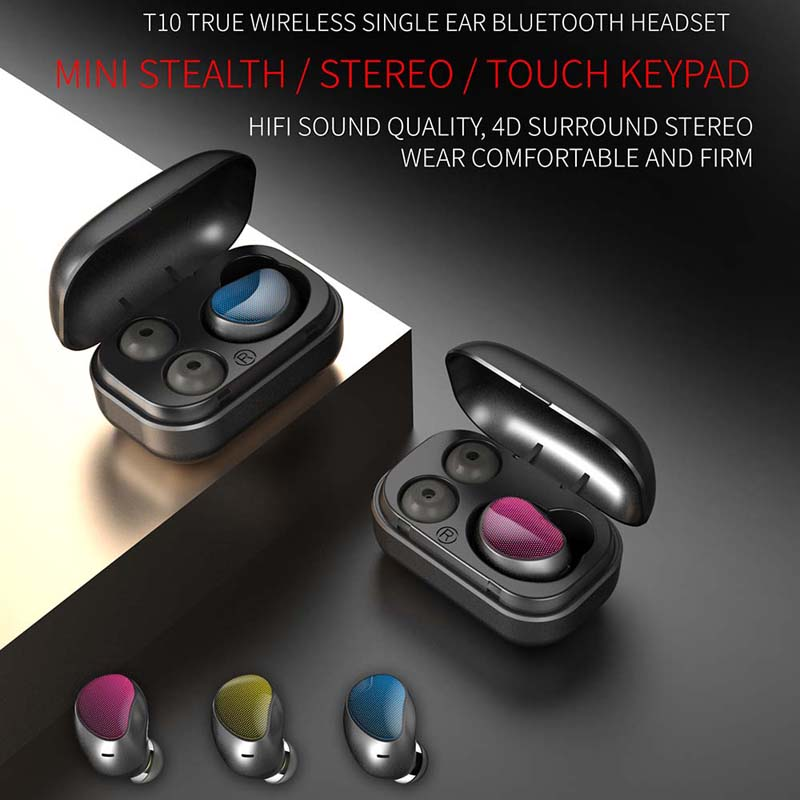 Bluetooth Earphone Wireless Stereo In ear Earbud Bluetooth headset touch screen for Phone Samsung xiao iphone bluetooth earphone