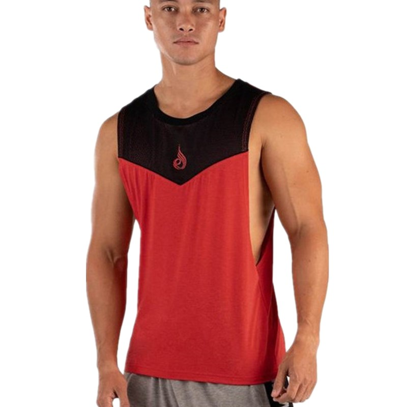 MLCRIYG 2019 New Mens Patchwork Cotton Vest Gyms Fitness Sleeveless Shirt Casual Moisture Absorbent vest Undershirt Hot Sale