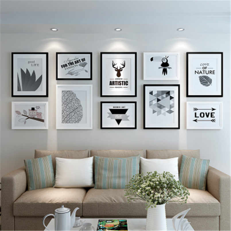 Creative Combination Photo Picture Frames Wall Decor Collage 10pcs Photo Frame Set Home Decoration Accessories Picture Frame Set Frame Aliexpress