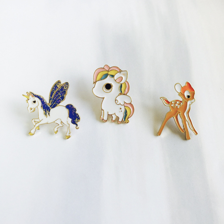 Arts,crafts & Sewing Animal Beautiful Bird Unicorn Metal Brooch Button Pins Denim Jacket Pin Jewelry Decoration Badge For Clothes Lapel Pins Large Assortment