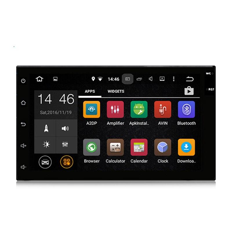 imágenes para Android 2 DIN 5.1 Estéreo Universal Del Coche de 7 pulgadas 1024x600 GPS de Navegación, WIFI USB Bluetooth de Radio Reproductor con APK 3G Envío Gratis
