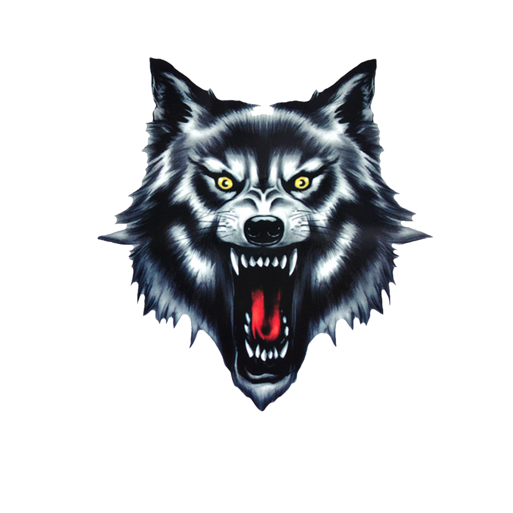 Hot Sale Cool Wolf Head Motorcycle Motorbike Car Door Decal Badge Paster Film Emblem Stickers Truck Helmet Decor Car