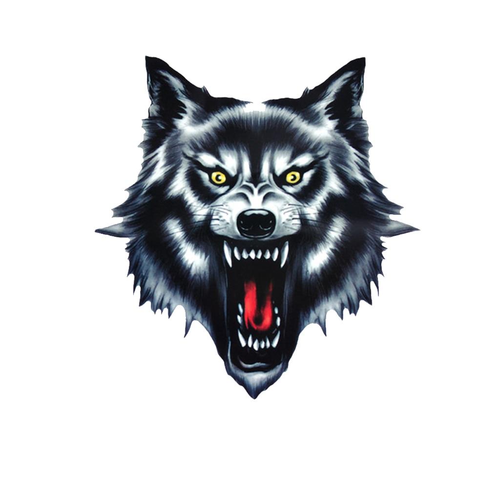 Hot Sale Cool Wolf Head Motorcycle Motorbike Car Door Decal Badge Paster Film Emblem Stickers Truck Helmet Decor Car