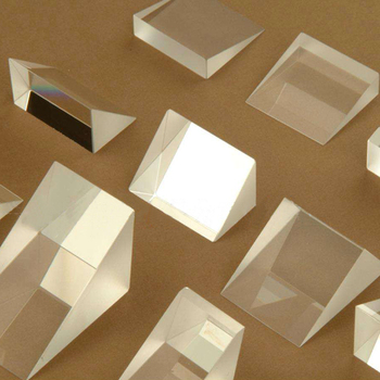 Optical prism /10 * 10 * 10mm / total reflection isosceles right angle with the size can be customized