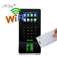 Новая коллекция ZK отпечатков пальцев время посещаемости с 125 кГц RFID Card Reader ZK F22 двери Система контроля доступа с WI FI