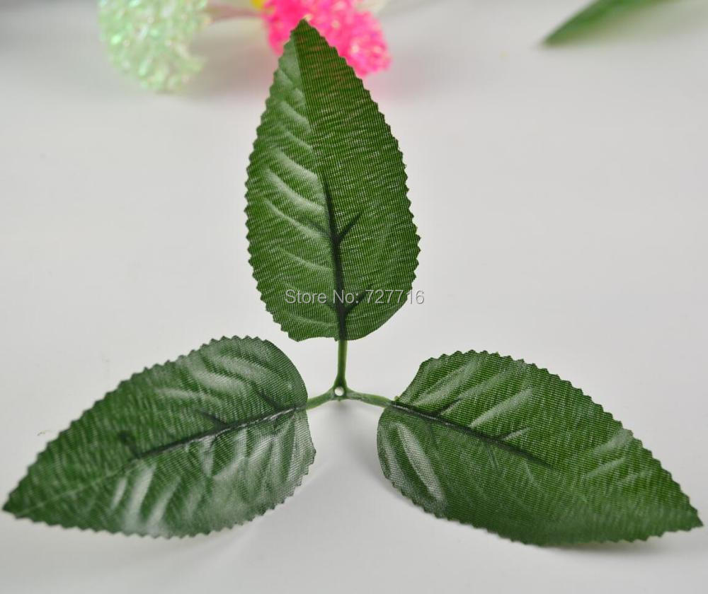 Simulation branch leaf and stem artificial leaves for diy for Artificial leaves for decoration