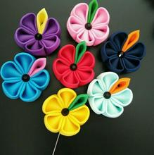 Wholesale custom party favor ribbon flower pins,wedding party women men's lapel brooches Free Shipping