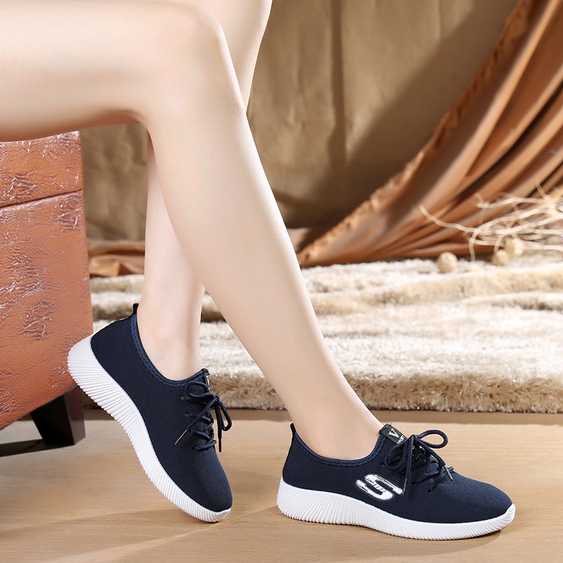 все цены на Women Casual Shoes Spring 2018 Autumn White Mesh Candy Colors Flats Ladies Shoes Woman Fashion Breathable Soft Women Sneakers