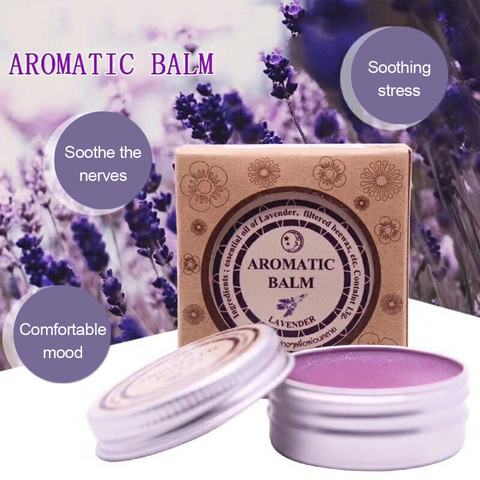 13g Effective Lavender Aromatic Balm Help Sleep Soothing Cream Essential Oil Insomnia Treatment Relieve Stress Cream TSLM1 Lahore