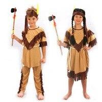 Child Native American Indian Princess Dress Costume Boy Soldiers Warrior Fancy Dress