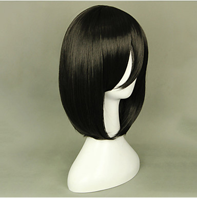Cosplay Wigs Attack on Titan Mikasa Ackermann Black Short Anime Cosplay Wigs 40 CM Heat Resistant Fiber Female