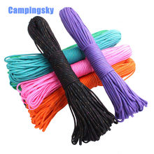 Rainbow Paracord 550 Paracord Parachute Cord Lanyard Rope Mil Spec Type III 7Strand 100FT Climbing Camping survival equipment(China)
