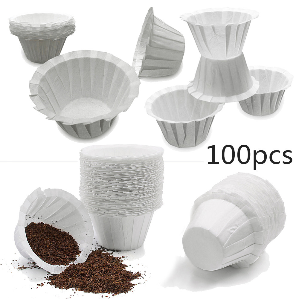 100X Coffee Disposable Paper Filters K-Cup For Keurig 2.0 Large Accessory Parts.
