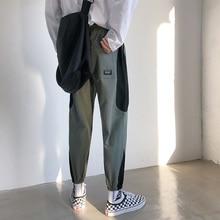 Fashion Leisure Thin Patchwork Cotton Cargo Pants Men 2019 Summer Hip Hop Casual Joggers Streetwear Sweatpants Large Size M-5XL