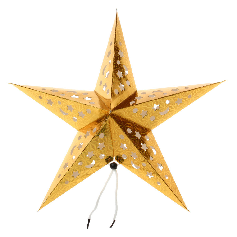 Gold star ornaments - Aliexpress Com Buy 40cm Christmas Decoration Paper Star Ornaments Gold From Reliable Ornament Shirt Suppliers On My 1000
