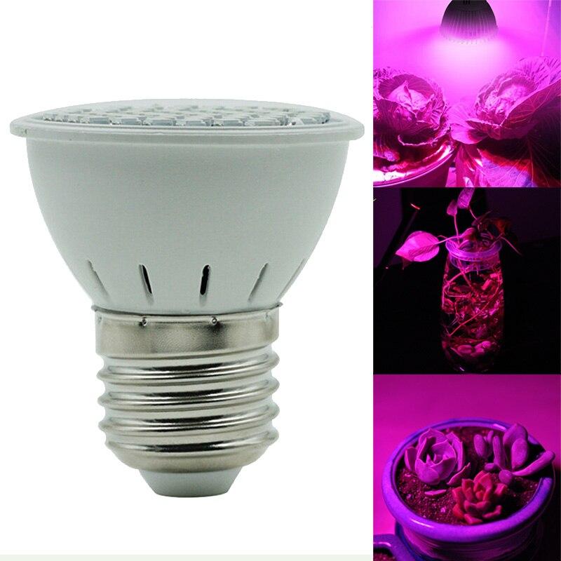 E27 4W 3528 60LED Grow Spectrum Light Bulb Indoors Hydroponic Growth Plant Flower LED Bulb Vegetables Tent Lamp