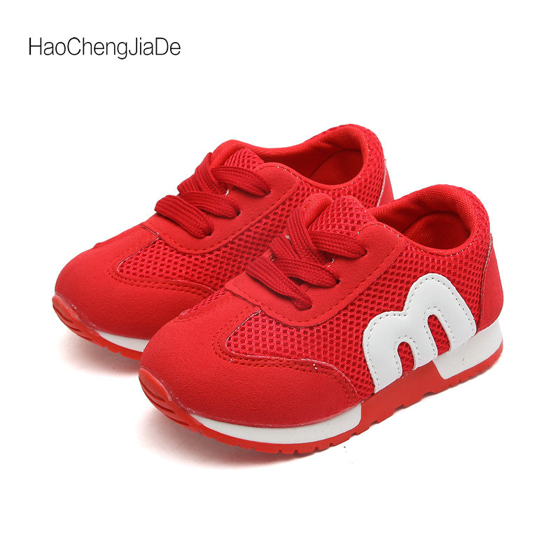 Kids Shoes Boys Sneakers Fashion 2018 New Spring Summer Mesh Sport Boys Shoes Tenis Infantil Breathable Child Shoes Size 21-30