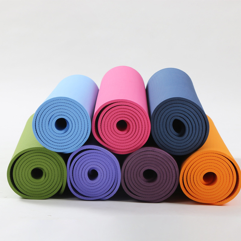 YHSBUY 2018 TPE Yoga Mats 183cm*61cm*6mm Non slip Esterirlla Yoga Gym Waterproof Excercise Mat for Beginners,HB016