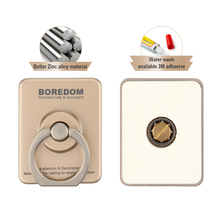 Boredom Phone Holder for iPhone Samsung Universal Stand Sticker Ring with Fidget Spinner Function Metal High Speed Bearing