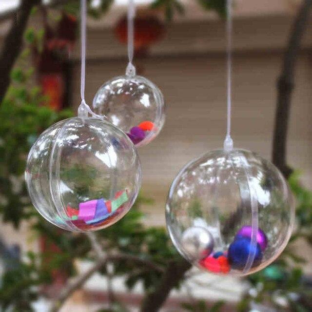 ddcf6ea737a51 Plástico claro bolas de 6 CM   8 CM   10 CM transparentes decoraciones para  árboles