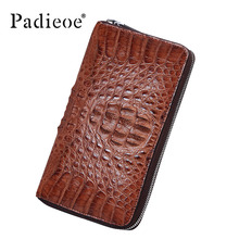 New 2017 real crocodile skin men's business card folder leather large-capacity money hand bag long section zipper hand bag