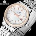 FORSINING марка женщины платье часы мода дамы бизнес кварцевые часы горячие женщины авто дата стальной браслет наручные часы
