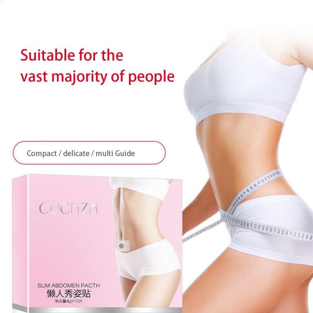 10PCS/Box Men Women Slimming Plaster Abdomen Treatment Patch Perfect Body Forming Paste Slim Sticker Fat Burning Sticker