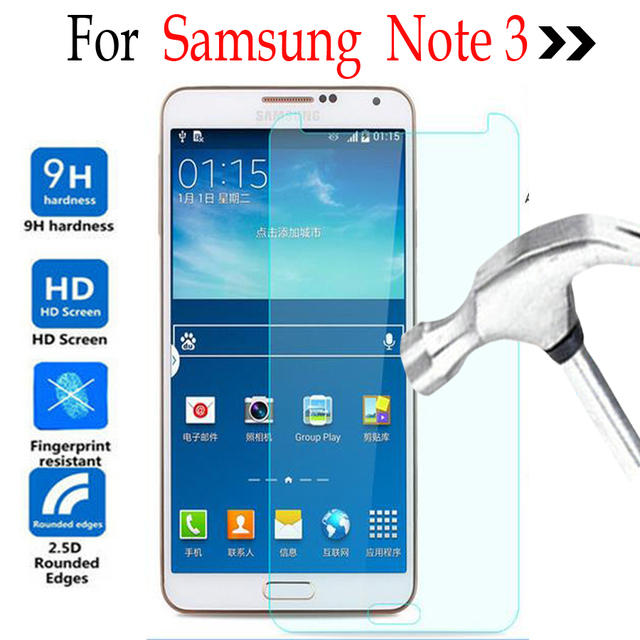 c91cf7942d0 Funda protectora de pantalla de vidrio templado para Samsung Galaxy Note 3  en Samsung Galaxy N9000