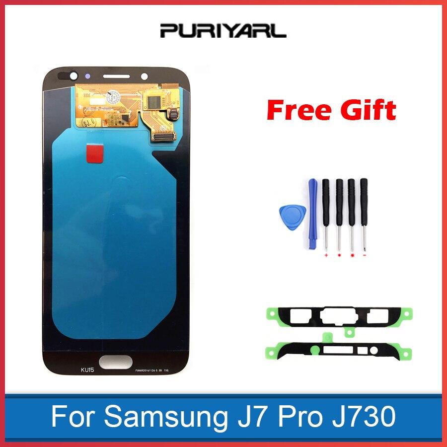 Remplacement Original superbe d'écran tactile d'affichage à cristaux liquides d'amoled pour Samsung Galaxy J7 Pro 2017 J730 J730F d'affichage à cristaux liquides