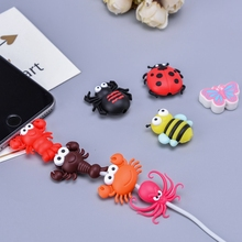 10pcs Animal USB Cable Charging Date Protector Cover Cute Cartoon Charger Cord for iPhone