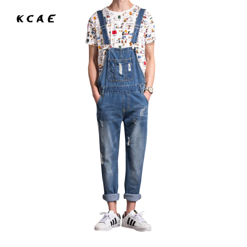 New 2017 Mens Distressed Jeans Ripped Jumpsuit Denim Overalls Men Baggy Cargo Pants with Suspenders Denim Bib Overalls for Men mens distressed jeans ripped jumpsuit denim overalls men baggy cargo pants with suspenders denim bib overalls for men 260