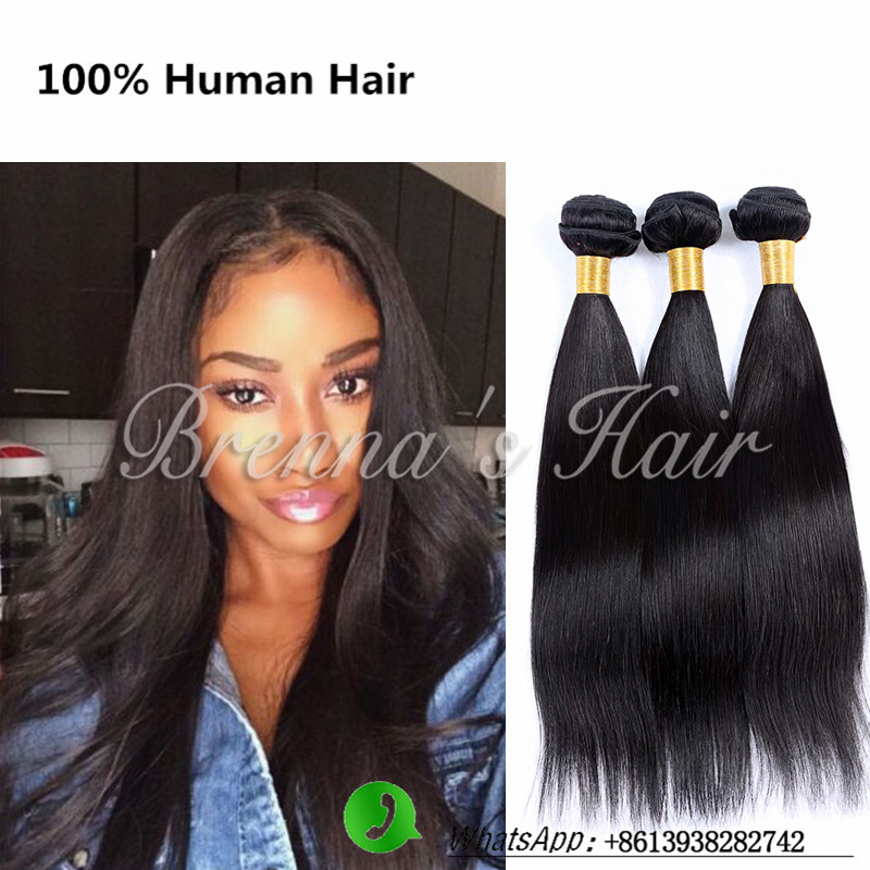 human straight hair brazilian hair weave bundles brazilian virgin straight hair 1 bundle 6a unprocessed virgin straight hair