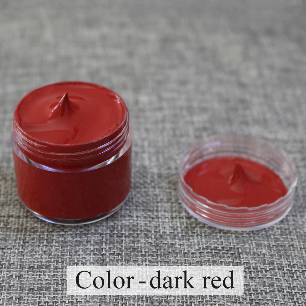 Dark Red Leather Paint Specially Used for Painting Leather Sofa,bags,shoes and Clothes Etc with Good Effect 30ml Free Shipping
