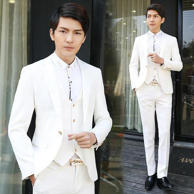430a2778a0 2016 new arrival wedding dress mens suits wedding groom three-piece suits  Slim tuxedos for