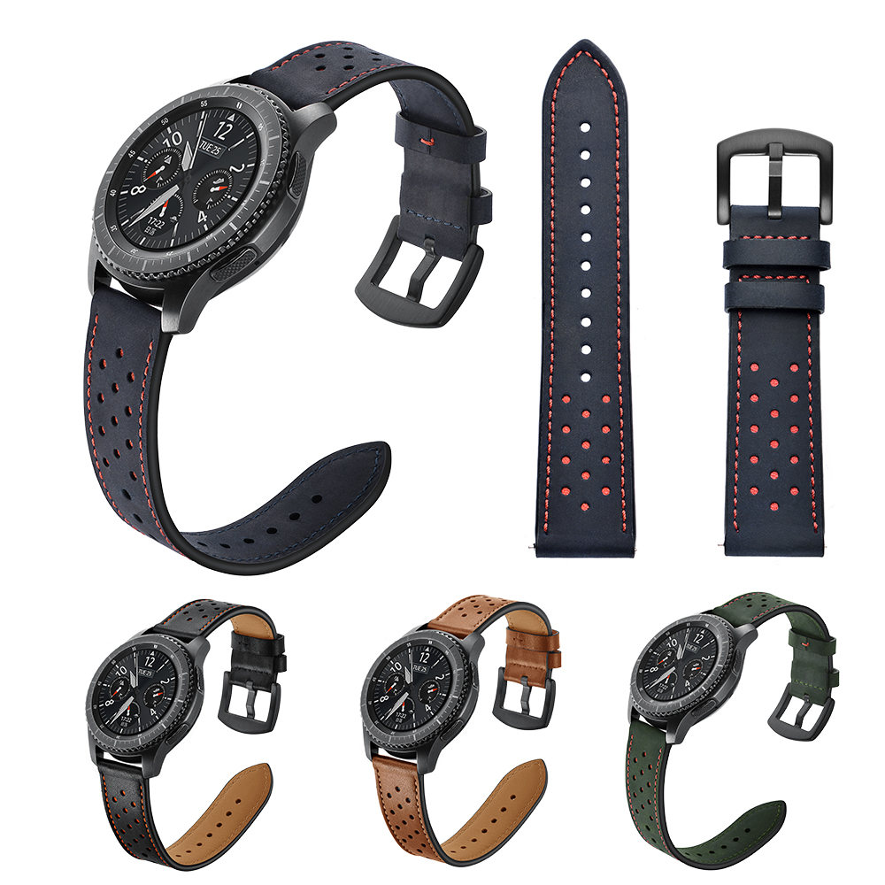 Leather Strap For Samsung Galaxy Watch 46mm 42mm Gear S3 Frontier/classic 22mm/20mm Watch Band Wrist Bracelet Amazfit Bip/bip 2