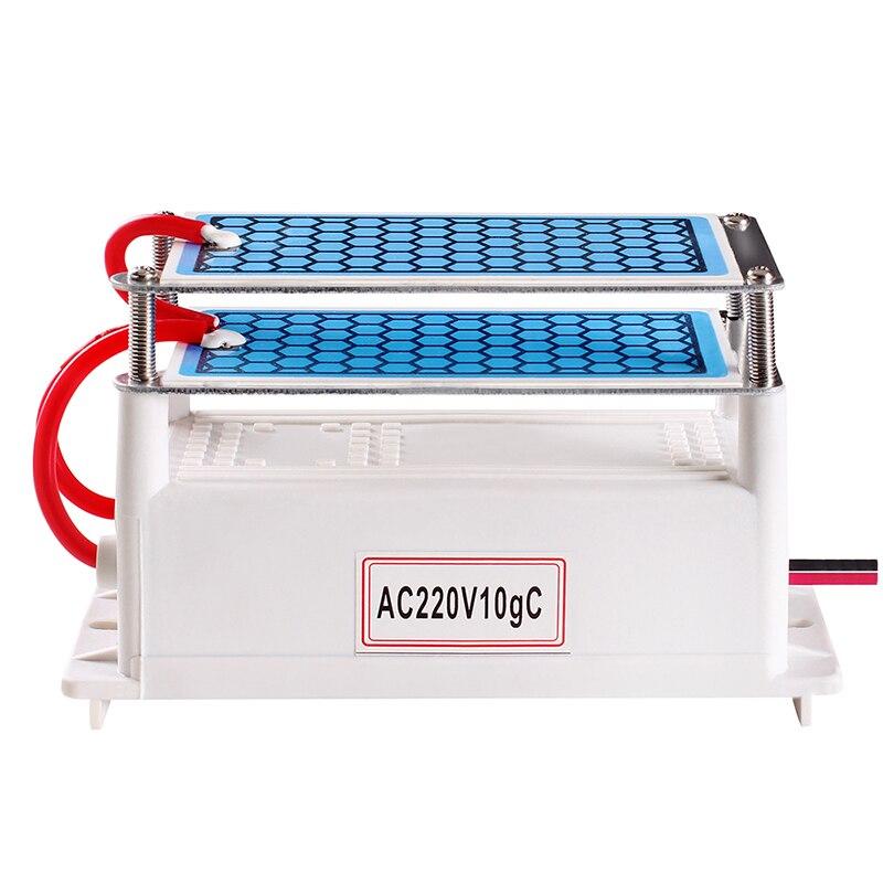10g Portable purificateur d'air en céramique générateur d'ozone 220V intégré longue durée de vie plaque en céramique stérilisation à l'ozone ozonateur livraison directe