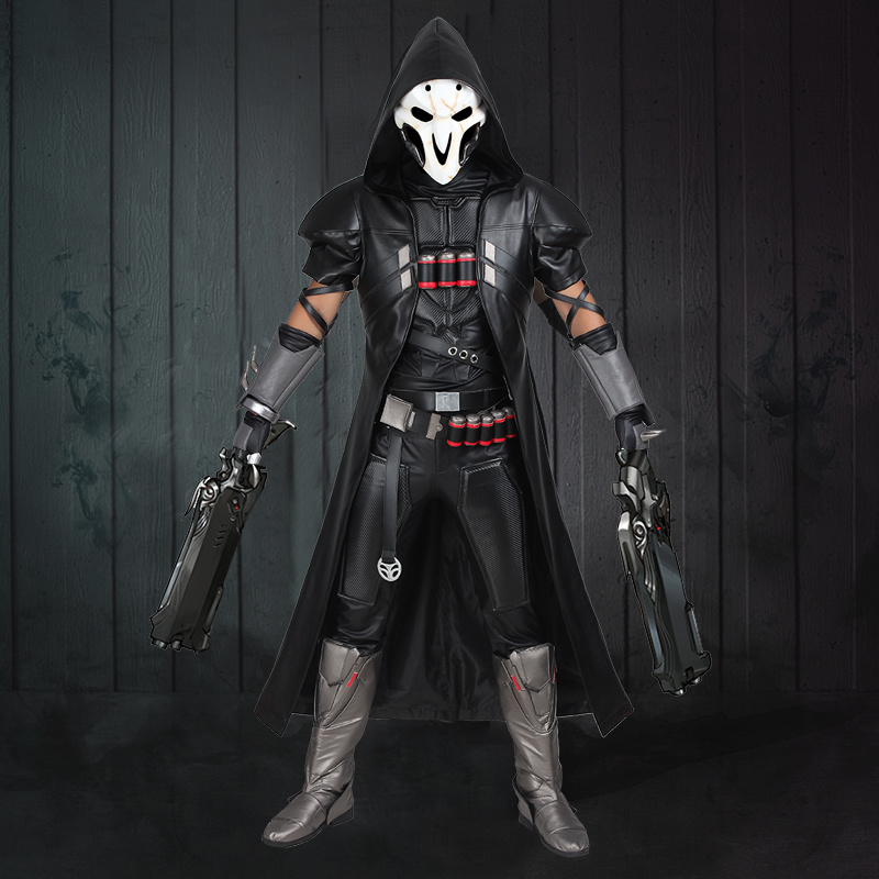 Game Reaper Gabriel Reyes Cosplay Costume Full Set For Men Adult Party Offense Halloween Cosplay Custom Made Handmade with Shoes