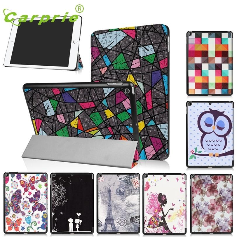 CARPRIE Folding Stand Case For ipad 9.7Inch Painted Leather Tablet Case Cover For ipad 9.7Inch 2017 Tablet Mar27 MotherLander