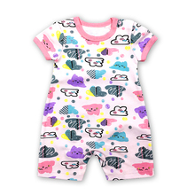 цена на Free Shipping Baby Clothing 2018 New Newborn jumpsuits Baby Boy Girl Romper Clothes Short Sleeve Infant Product
