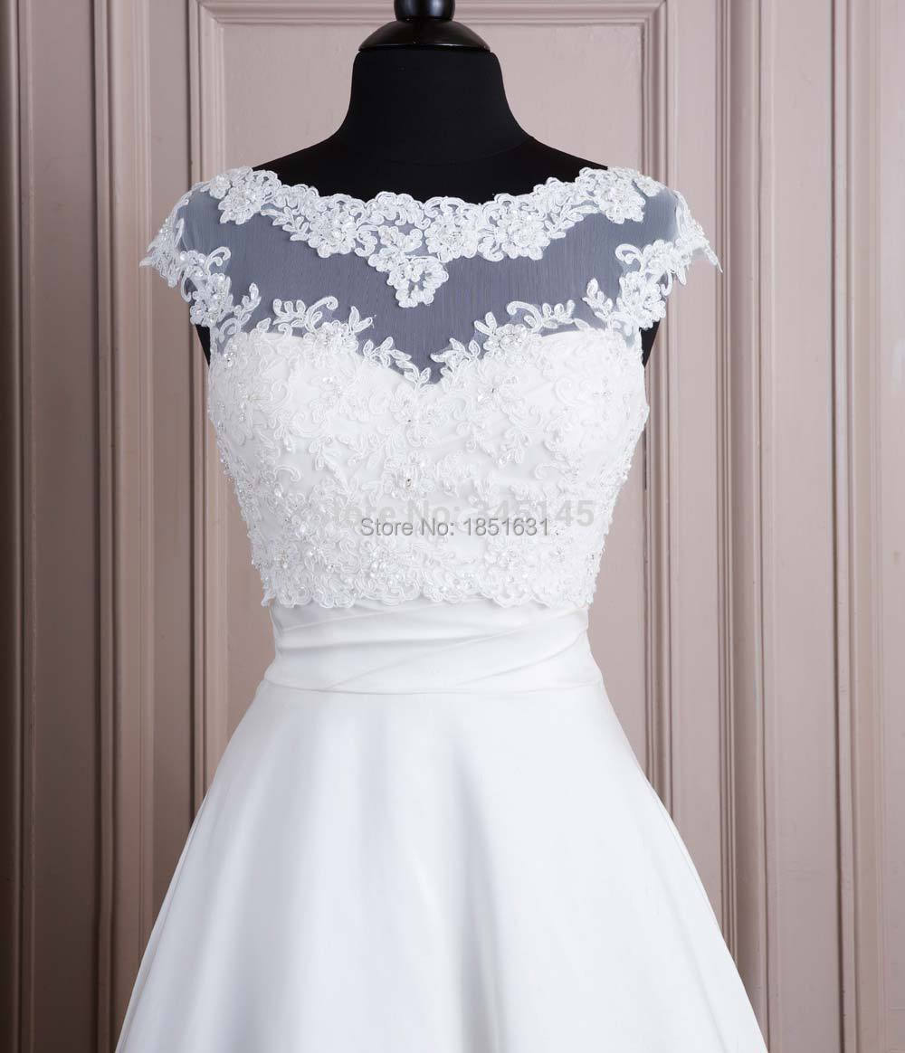 High quality White 2015 Tulle with Appliques Bead Tank Bridal Wedding Bolero Jacket Wedding Lace Shrug Cape Shawl.jpg