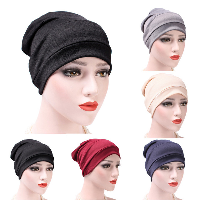 33026695a5e 2018 New Fashion Women India Hat Muslim Ruffle Cancer Chemo Hat Beanie  Scarf Turban Head Wrap Cap With high Quality Hot Sale  35