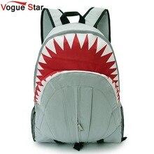 Vogue star 2017 freies verschiffen! heißer Verkauf Kinder Fashion Shark Rucksack Niedlichen Rucksäcke jungen Reisetaschen Schultasche YA40-282