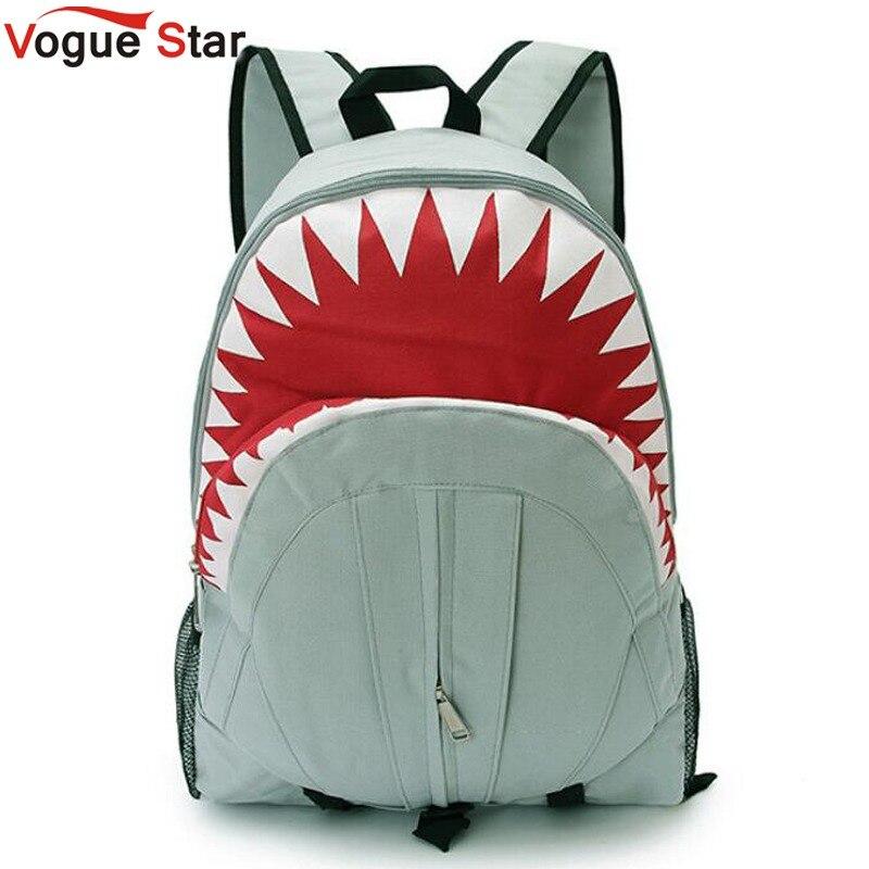 eb19428bedd4b Vogue Sterne 2019 Freies Verschiffen! Heißer Verkauf Kinder Mode Shark  Rucksack Niedlichen Rucksäcke jungen Reisetaschen Schule Tasche YA40-282