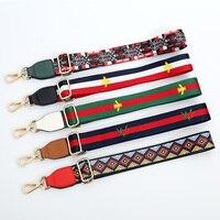 Bag Straps Colorful Shoulder Belts Replacement Detachable Handbag Handle DIY Long Belts Bands Gold Buckle Bag