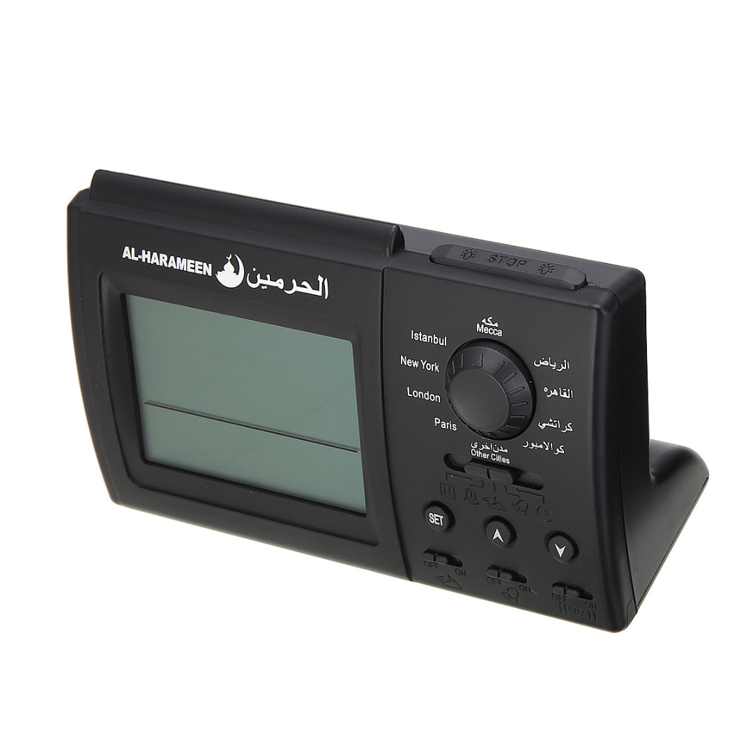 1PCS Black Automatic Digital Clock Islamic Azan Muslim Prayer Alarm Adhan Home Table Desktop Snooze High Quality