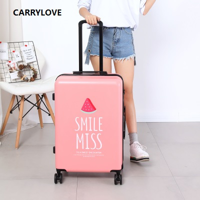 CARRYLOVE High Quality Luggage 20/24 Size Princess  PC Rolling Luggage Spinner Brand Travel Suitcase