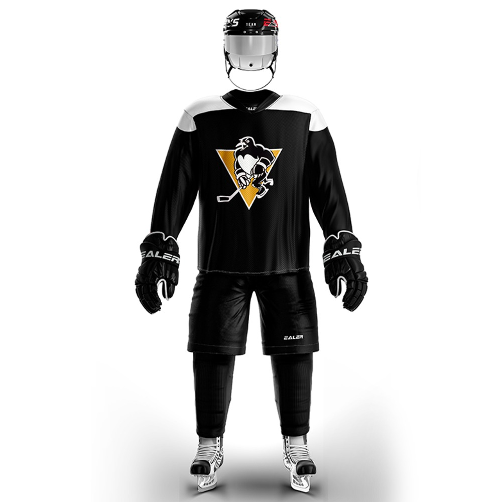 Han Duck high-quality light and thin breathable black personalized ice hockey practice jersey & large street shirt-all sizes